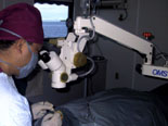 Eye surgery on board the Sea Haven, Satawan Atoll, Chuuk.