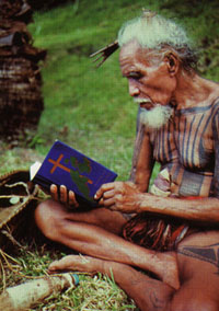 Islander with Bible