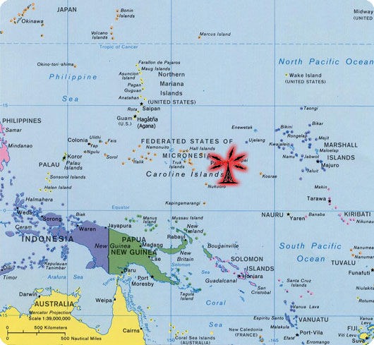 Pacific mission aviation map of oceania and the radio station location in pohnpei micronesia publicscrutiny Gallery